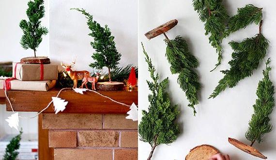 ideen-für-rustikale-weihnachtsdeko-selber-machen-mit-immergrünen-zweigen