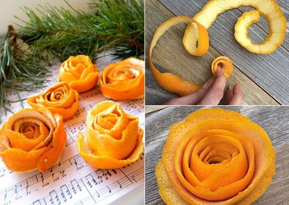 originelle diy dekoration mit orangenschalen und tannenzweigen