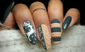 nail art ideen für originelle und moderne winternägel