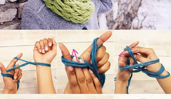 coole-ideen-für-last-minute-geschenke-selber-machen-zu-weihnachten_diy-doppelloop-strickschal-ohne-nadeln