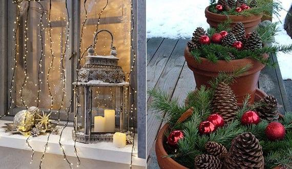fröhliche-deko-mit-weihnachtskugeln-im-außenbereich