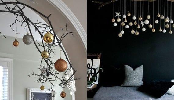 originelle-hängende-deko-mit-weihnachtskugeln-im-wohnzimmer