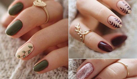 schöne-nageldesign-ideen-für-winter-gelnägel-mit-floralem-muster