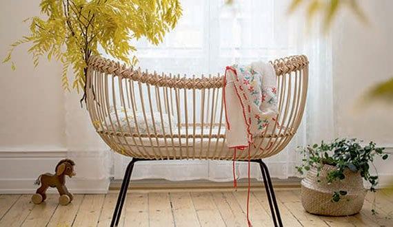 babyzimmer-gemütlich-einrichten-mit-modernen-rattanmöbeln