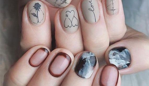coole-nageldesign-ideen-für-schöne-boho-nägel