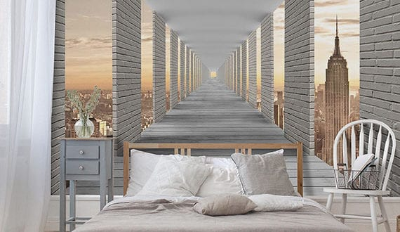 effektvolle-Raumgestaltung-durch-trendige-3D-Fototapeten-mit-Tiefenwirkung