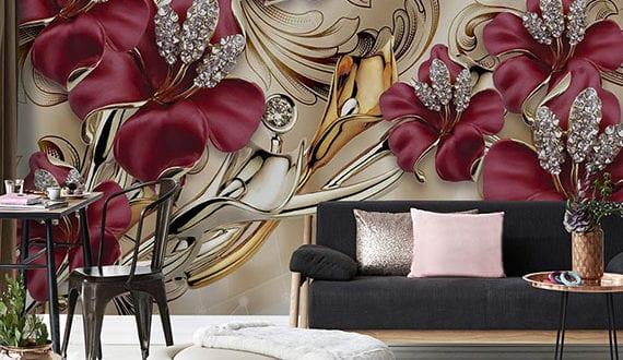 luxuriöse-wohnzimmer-gestaltung-mit-erstklassigen-3D-wandtapeten