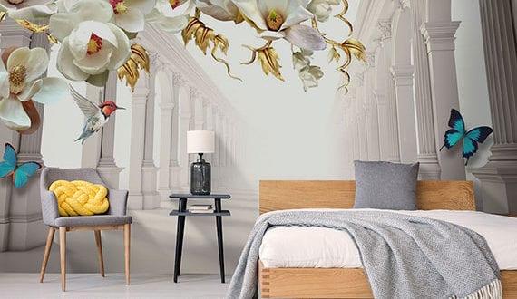 schöne-und-fotorealistische-akzentwand-im-schlafzimmer-gestalten-mit–modernen-und-hochwertigen-3D-Fototapeten