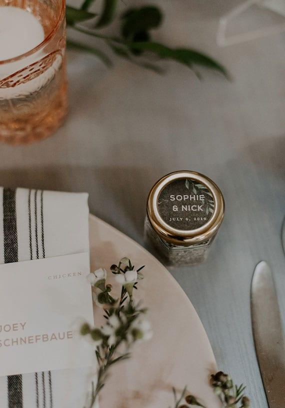 kleine gastgeschenke im glas_tolle hochzeit geschenkideen aus der küche
