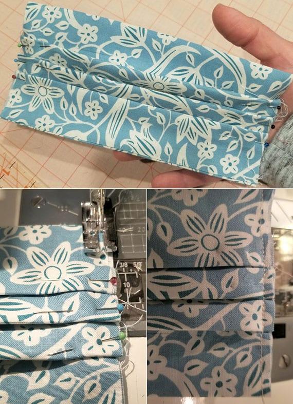 eigenen munschutz mit faltungen selber machen aus stoff und gummiband