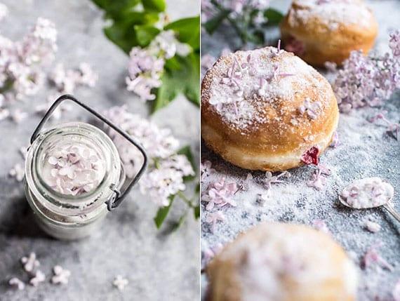 zucker mit fliederaroma selber machen und kuchen mit fliederblüten servieren