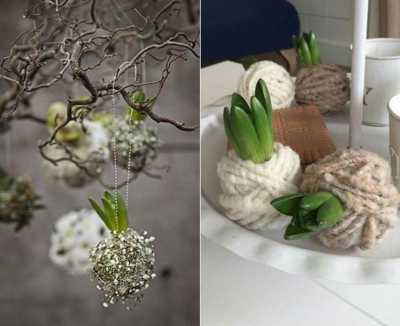 toole bastelideen mit blumenzwiebeln für eine lebendige DIY Frühlingsdeko