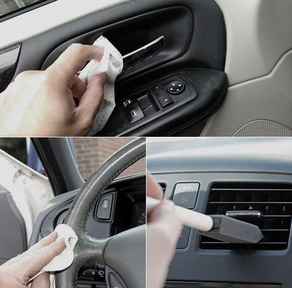 auto hygienisch reinigen mit einfachen Seifen und nicht mit aggressiven Putzmitteln