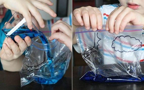 mit einfachem kinderexperiment den Wasserkreislauf auf der Erde erklären