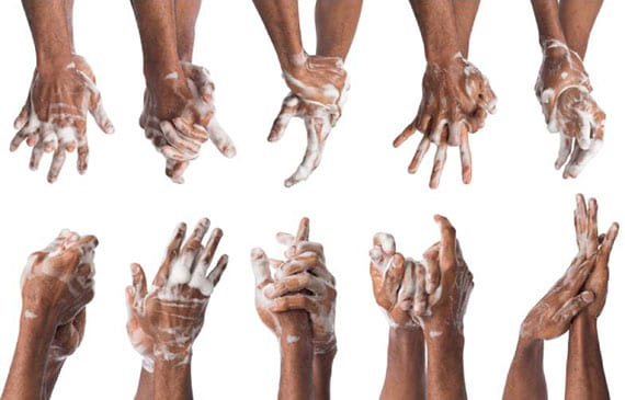 hygienetipps zum richtigen händewaschen mit wasser und seife als die wichtigste Hygienemaßnahme gegen eine Ansteckung mit verschiedenen Vieren