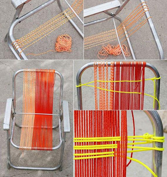 anleitung für bunte stuhl-bespannung mit seil