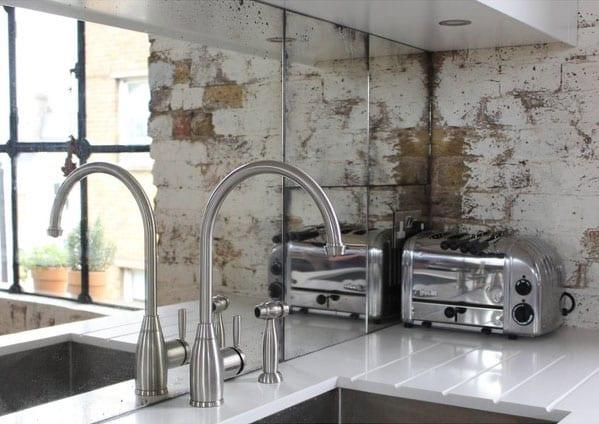 spiegel rückwand küche für attraktive und moderne küchengestaltung kleiner küchen