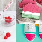 sommerdeko und sommerdesserts mit wassermelone zubereiten