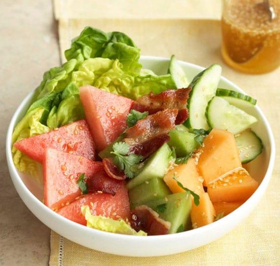 rezeptidee für salat aus verschiedenen melonensorten