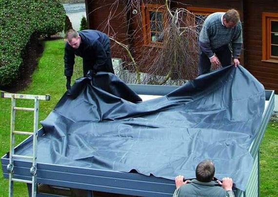 EPDM-Folie selbst aufs Flachdach aufbringen