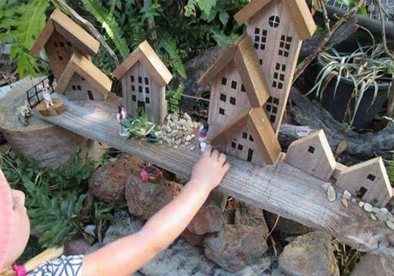 basteln mit holz_coole ideen für natürliche gestaltung vom kinderspielplatz