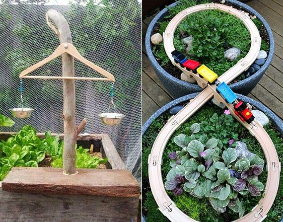 kreative bastelideen für natürliche kinderspielplätze