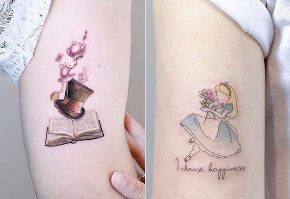 motive aus disney filmen als ideen für kleine und stilvolle disney tattoos