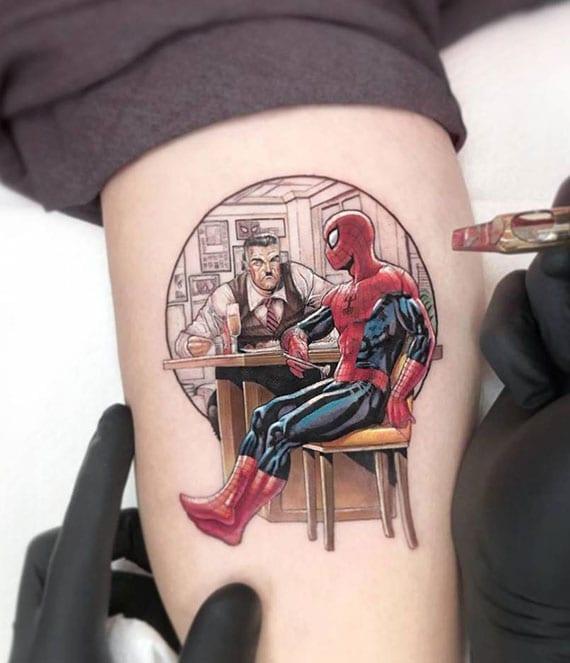 tattoo idee mit Cartoon, Comic and Superhero Spiderman