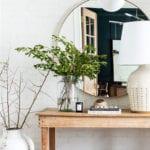 coole designideen für stylische flurgestaltung mit holz und natürliche dekoration mit pflanzen