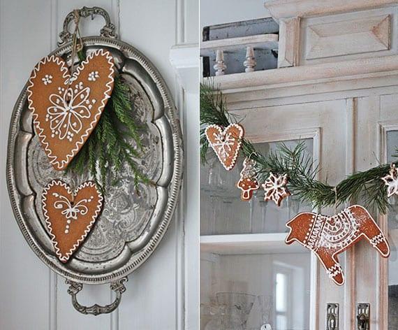 lebkuchenwelt_rustikale winter dekoration mit diy girlande und wanddeko aus lebkuchen-figuren