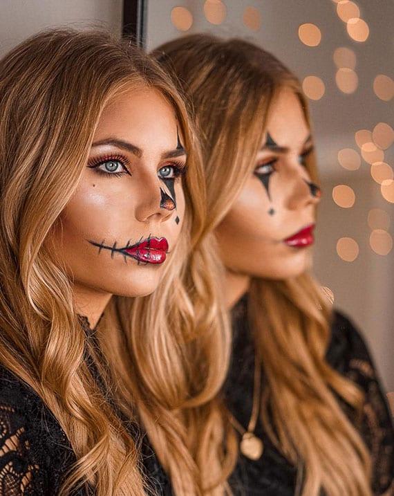 einfache und stilvolle clown-gestalt zu halloween