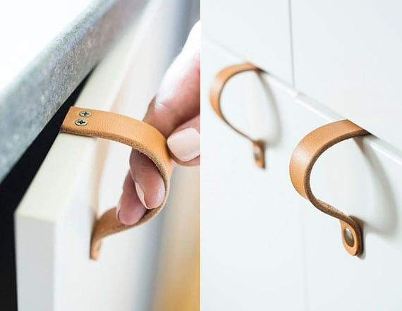 tolle ledergürtel upcycling idee für moderne zimmerdeko mit diy ledergriffen für schranktüren