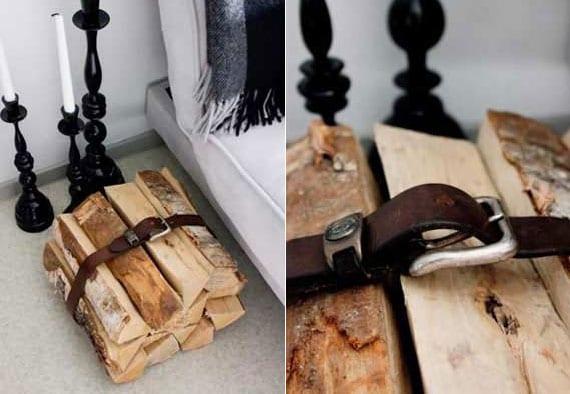 coole idee für zimmerdekoration und aufbewahrung von kaminholz