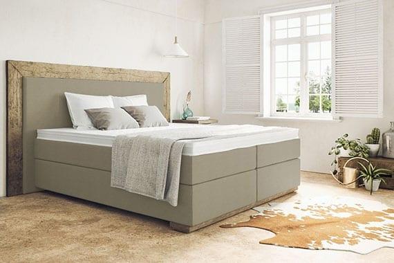 die individuell konfigurierbaren Boxspringbetten bringen Schlafkomfort und elegantes Flair in jedes Schlafzimmer