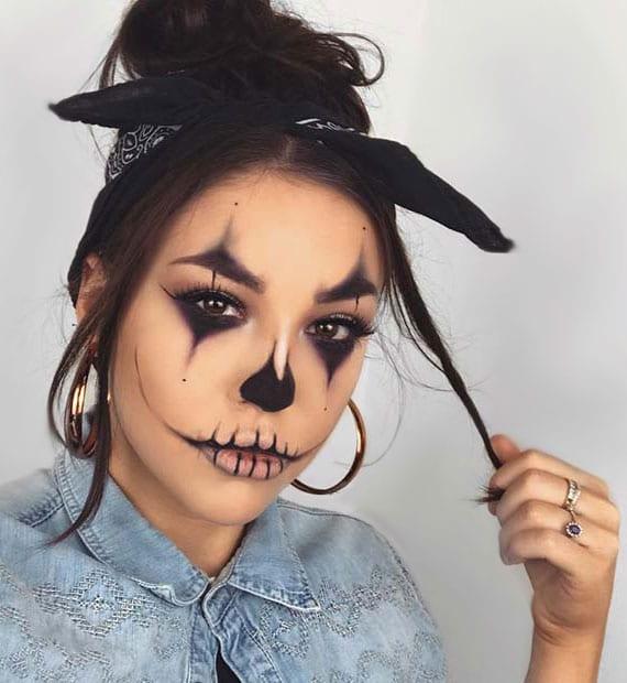 ideen und anleitungen für ein cooles clown makeup und tollen halloween party look