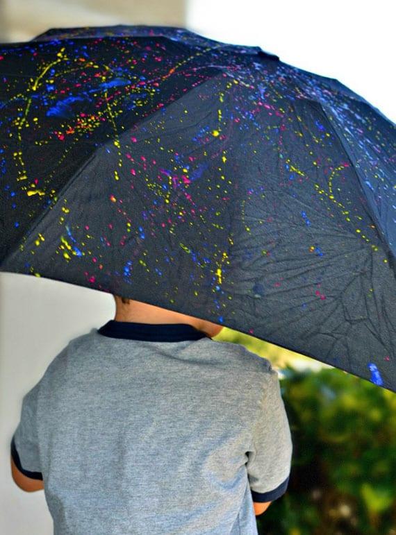 ideen für bunte kinderschirme mit einem diy regenschirm-design