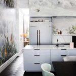 küchen ideen für attraktive wanddekoration mit küchentapeten