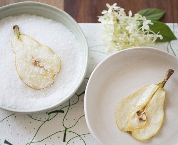 knusprige Birnenchips schnell und einfach selber machen