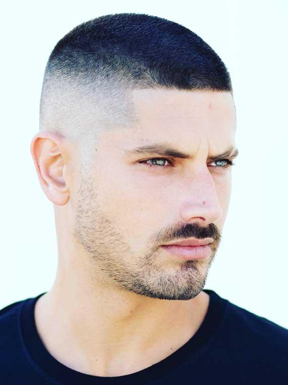 kurzhaarige herrenfrisuren wie der Buzz Cut sind die ideale Lösung bei Haarausfall