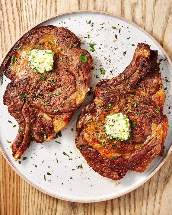 saftige Steaks als weihnachtsessen einfach zubereiten in airfryer