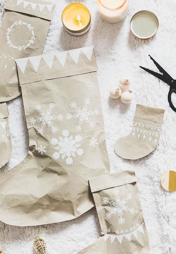 tolle weihnachtsgeschenke selber basteln und kreativ verpacken in selbstgemachter geschnkverpackung