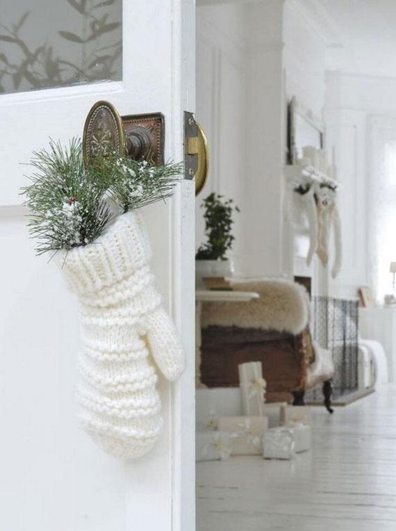 ideen wie man ohne schnee zu weihnachten eine tolle winterdeko mit tannenzweigen machen kann