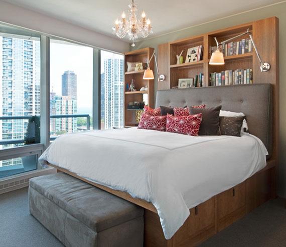 ausreichend Stauraum im kleinen Schlafzimmer schaffen mittels Betten mit Bettkasten, Schubladen und Fächer unter der Liegefläche