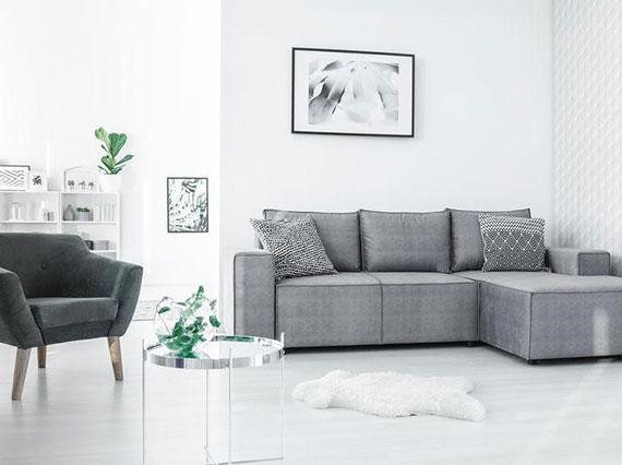 kleine zimmer und wohnungen modern und effektiv einrichten mit platzsparenden und funktinalen Möbel wie ein Sofa mit Schlaffunktion