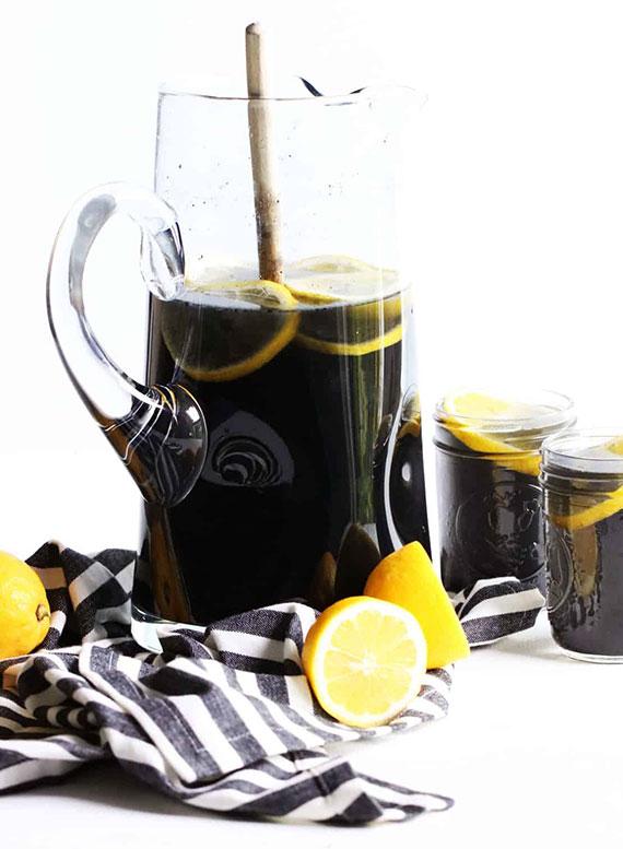 Stoffwechsel in Balance halten und gesund abhnehmen mit schwarzer detox limonade