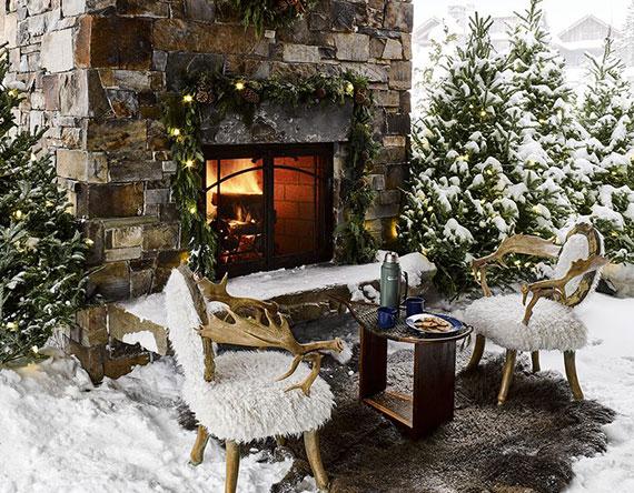 außer der Gartenarbeit kann man im winter auch eine romantische Stimmung draußen zaubern