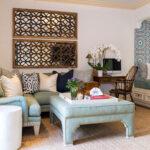 frische einrichtungsideen für gemütliche sitzecke im wohnzimmer mit orientalischem charme