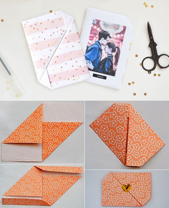origami valentinskarten falten und gutscheine valentinstag somit überreichen