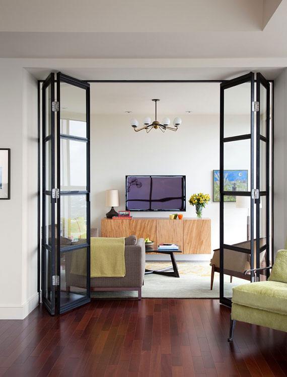 räume praktisch und stillvol trennen mit modernen glas falttüren