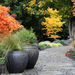 ideen für lebendige gartengestaltung mit kübelpflanzen und großen pflanzkübeln